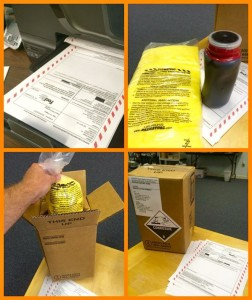 Hazardous Waste Shipping Packaging Example