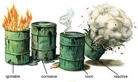 Hazardous Waste Barrels Drawing