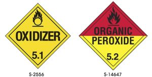 Dangerous Goods Classifcation 5 - oxidizer, organic peroxide