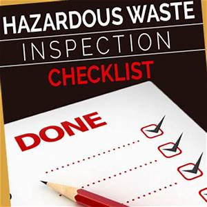 Hazardous Waste Inspection Checklist