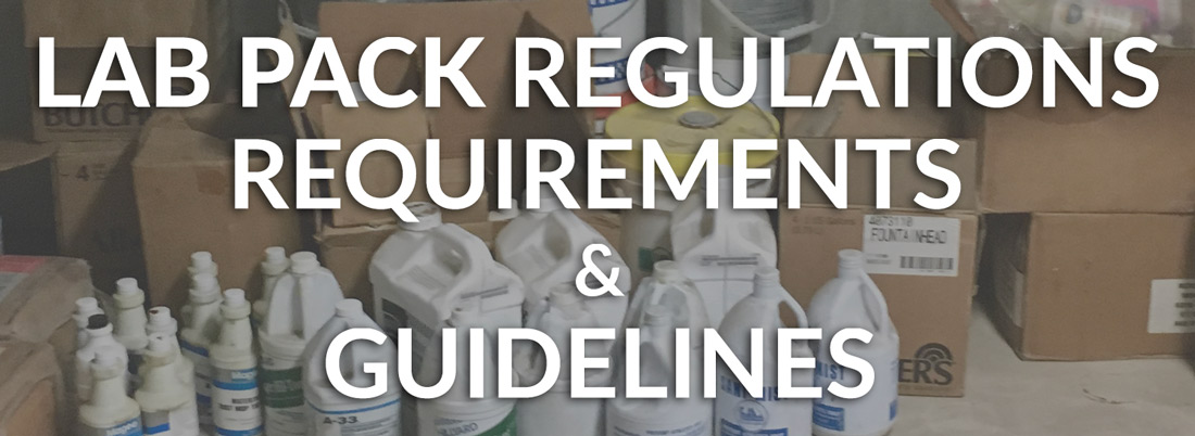 Lab Pack Regulations