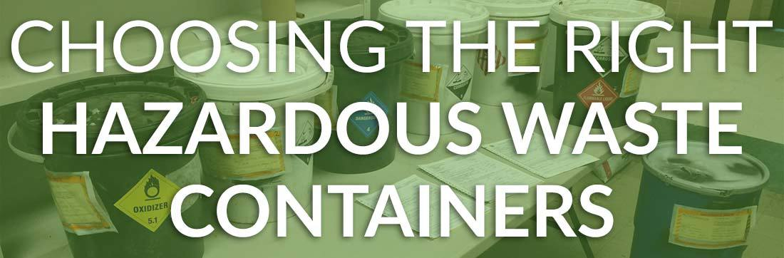 hazardous waste containers header