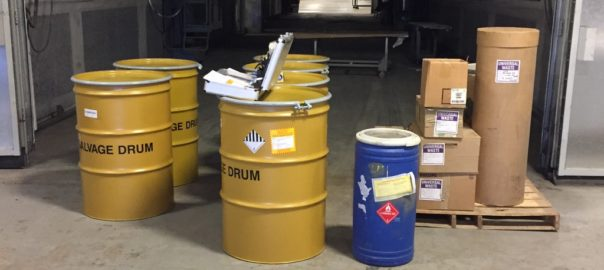 salvage drums | Hazardous Waste Storage Area Design